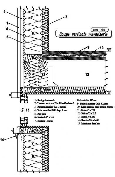 Synergie bois cholet bureau d 39 tudes etudes structures et for Coupe verticale d un batiment