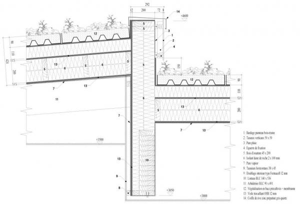 Synergie bois cholet bureau d 39 tudes etudes structures et sismique ing nierie du b timent - Coupe toiture vegetalisee ...